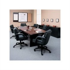 Conference Tables And Chairs Wheelchair Automatic Cymax Stores Global Total Office Boat Shaped 8 Table With Slab Base