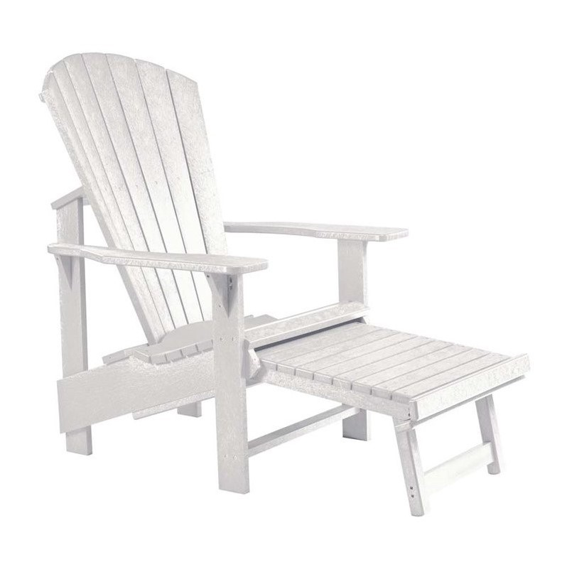 CR Plastic Generations Upright Adirondack Chair with Stool