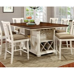 Bar Height Kitchen Table Sets Walls Furniture Of America Hendrix Counter Dining ...