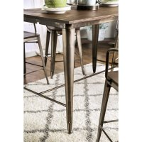 Furniture of America Mayfield Counter Height Dining Table ...