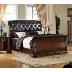 Conversation Sofas Reviews Couches And Difference Furniture Of America Cheston Queen Tufted Leather Sleigh ...