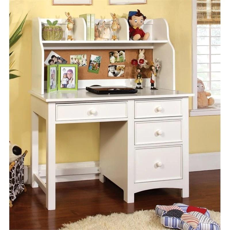 Furniture of America Ruthie Modern Kids Desk with Hutch in