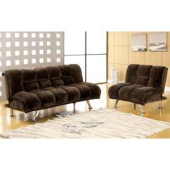 Futon And Chair Set Ergonomic Lebanon Furniture Of America Edlee 2 Piece Sofa In Dark Brown Idf 2904 Db 2pc