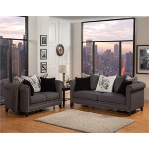 Image Result For Furniture Of America Sharon Tufted Fabric Sofa In Gray