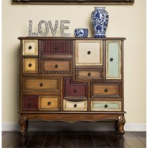 Furniture Of America Whitney 9 Drawer Accent Chest In