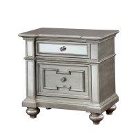 Furniture of America Farrah 2 Drawer Mirrored Nightstand ...