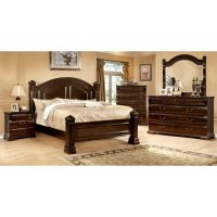 Furniture of America Oulette 4 Piece Queen Bedroom Set in ...