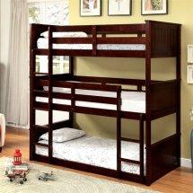 Furniture Of America Dorian Twin Triple Decker Bunk Bed In