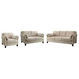 poundex bobkona arcadia sofa and loveseat set window storage sets | cymax stores