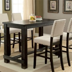 Small Pub Table And Chairs Baby Chair That Attaches To Furniture Of America Stanton In Antique Black Idf 3324bk Bt