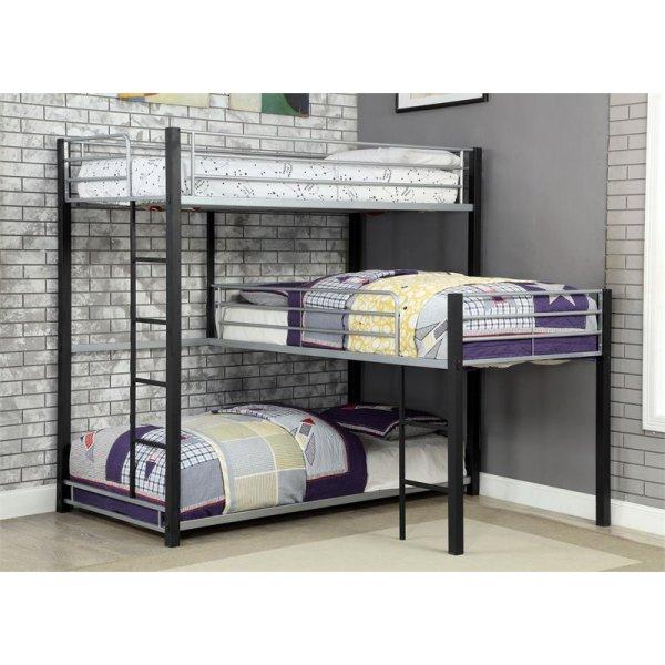 Furniture Of America Turner Modern Triple Twin Bunk Bed In