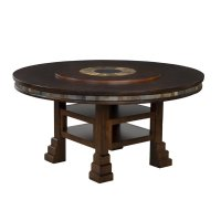 """Sunny Designs Santa Fe 60"""" Round Dining Table with Lazy ..."""