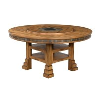"""Sunny Designs Sedona 60"""" Round Dining Table with Lazy ..."""