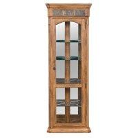 Sunny Designs Sedona Corner Curio Cabinet in Rustic Oak ...