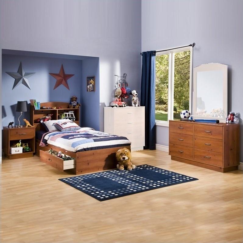 South Shore Logik Kids Sunny Pine Twin Wood Storage Bed 4
