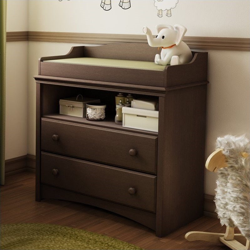 South Shore Furniture Angel Changing Table in Espresso  3559331