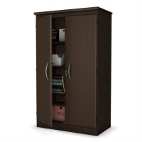 South Shore Park 2 Door Storage Cabinet in Chocolate ...