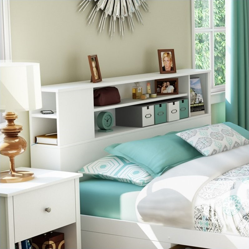 South Shore Breakwater Full  Queen Bookcase Pure White
