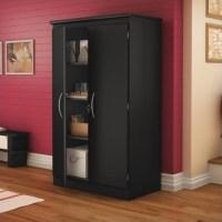South Shore Park 2 Door Storage Cabinet in Solid Black ...