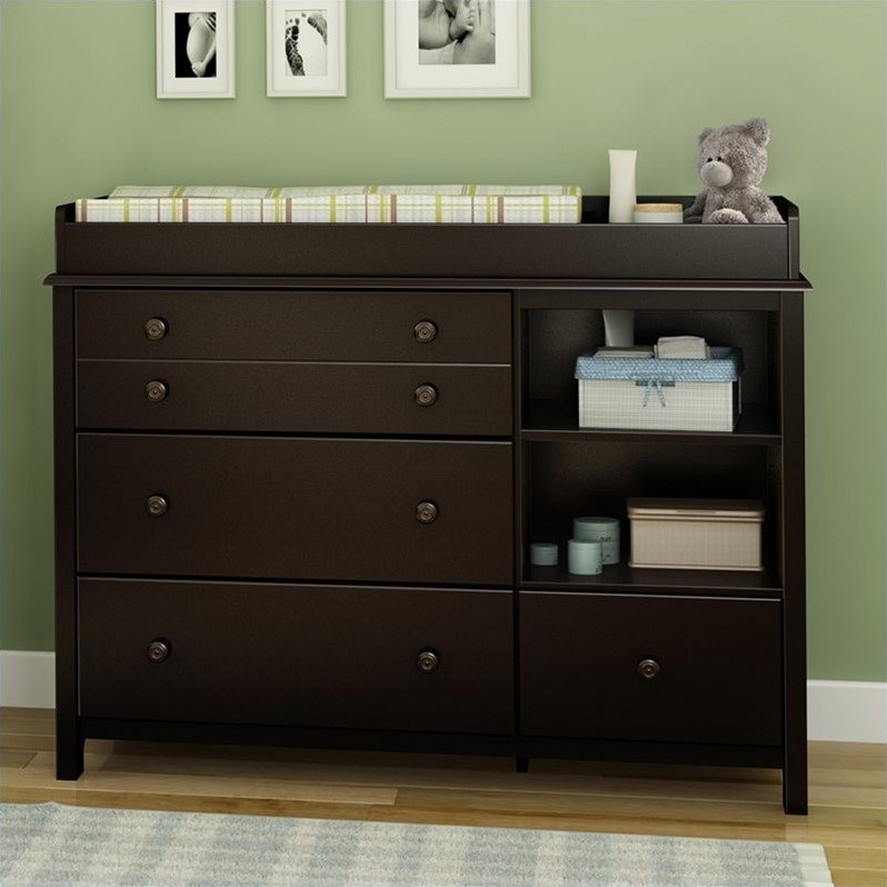 South Shore Little Smiley Espresso Baby Changing Table  eBay