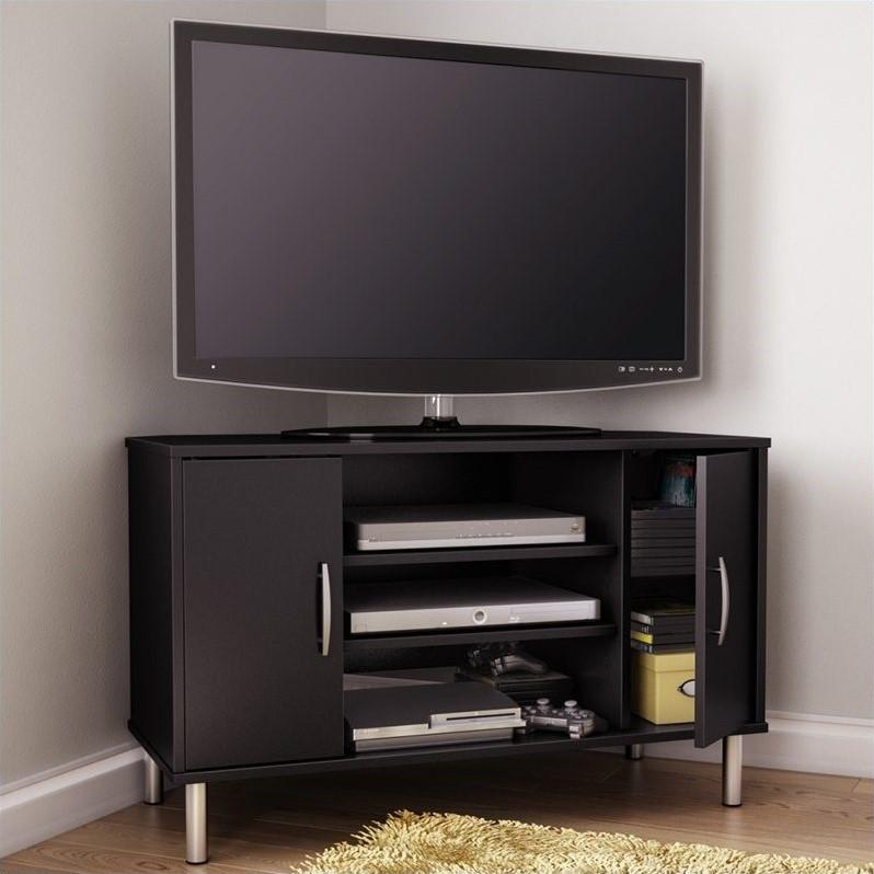 South Shore Renta Corner Pure Black TV Stand  eBay
