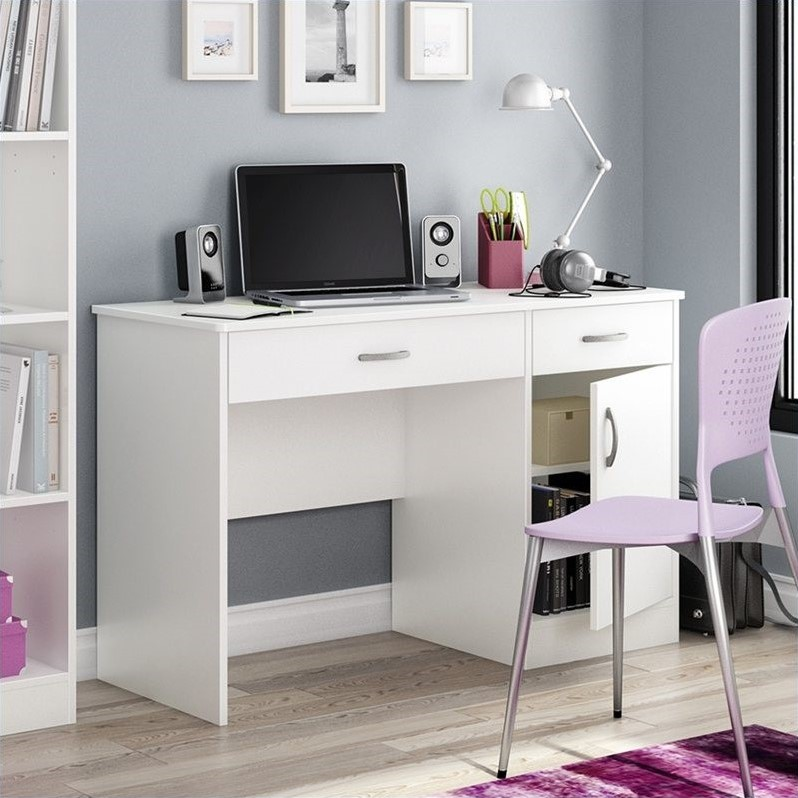 South Shore Axess Small Computer Desk in White  7250070