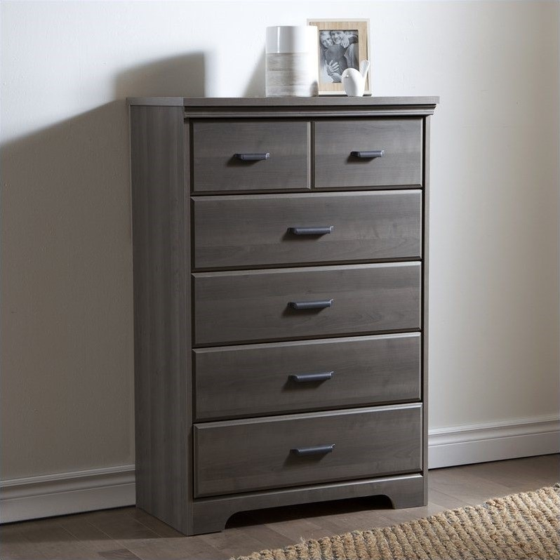 South Shore Versa 5Drawer Chest in Gray Maple  9041035