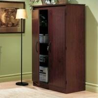 South Shore Park 2 Door Storage Cabinet in Royal Cherry ...