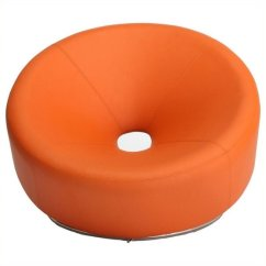 Orange Egg Chair Booster Baby Brika Home Modern Faux Leather In Br 491053