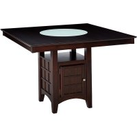 Bowery Hill Counter Height Square Dining Table with ...