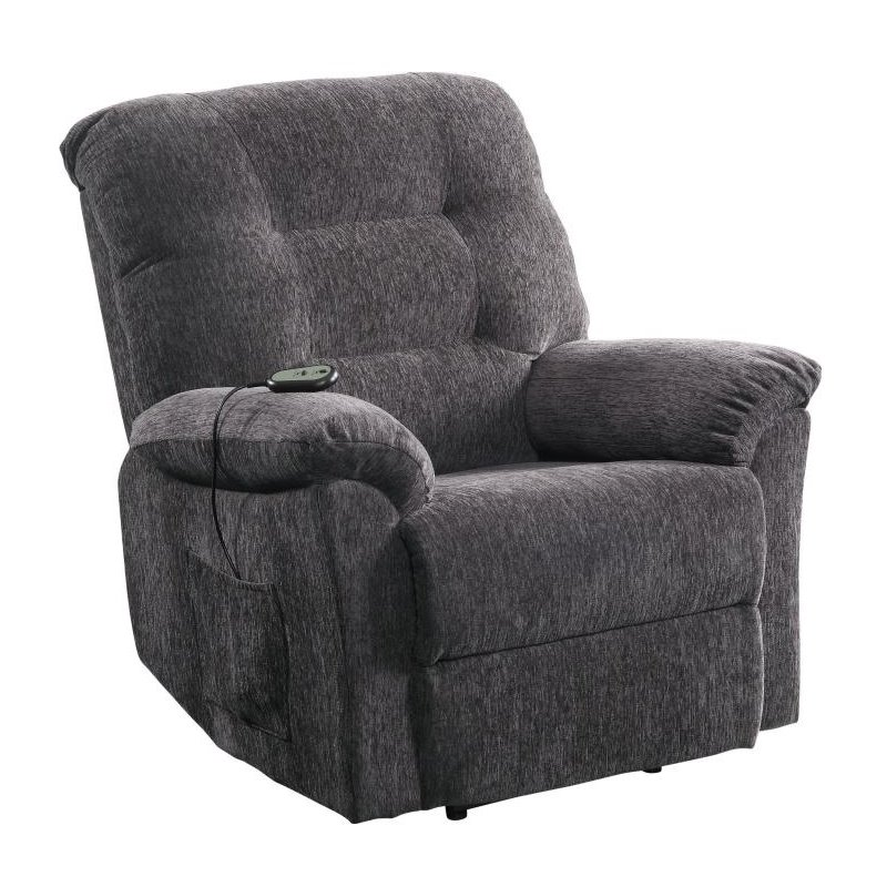 power lift chair medicare repair lawn vinyl straps bowery hill recliner with remote control in dark grey bh 429011
