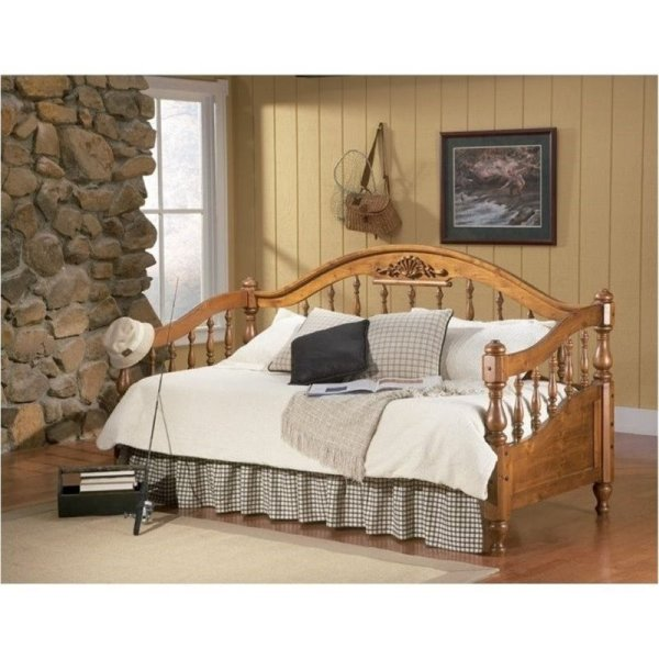 Wood Daybed with Pop Up Trundle Included