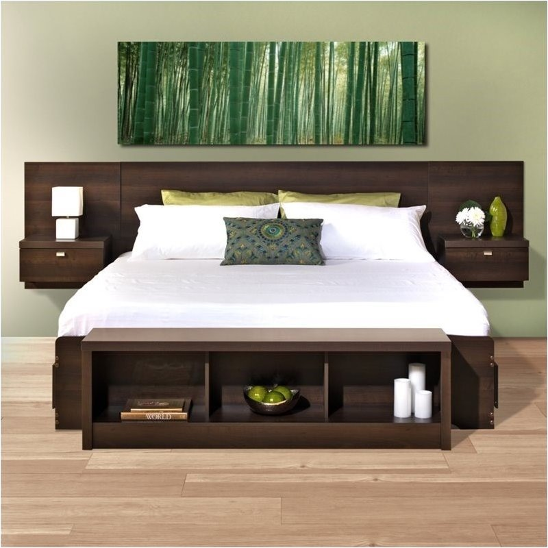 Bowery Hill King Platform Storage Bed with Floating