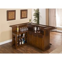 Bowery Hill L Shaped Home Bar In Brown Cherry - Bh-1425823