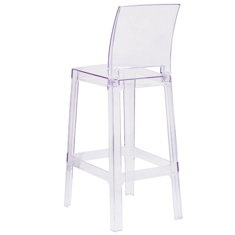 ghost bar chair swivel amart bowery hill square back stool in transparent crystal bh