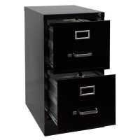 Pemberly Row 2 Drawer Letter File Cabinet in Black - PR-436141