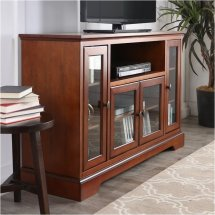 """Pemberly Row 52"""" Highboy Style Wood Tv Stand In Rustic"""