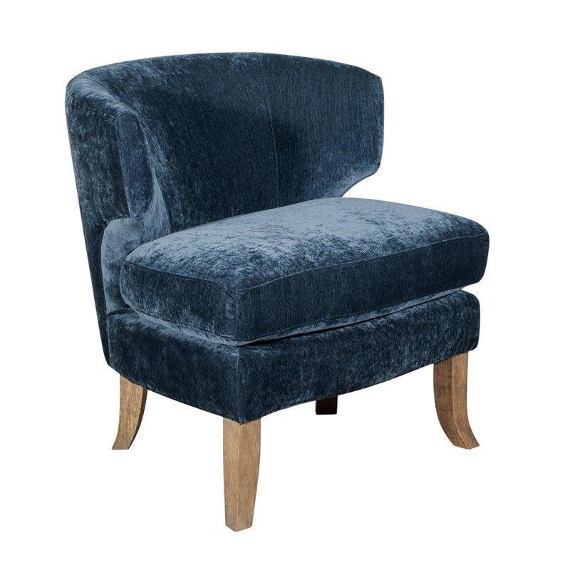 Tommy Hilfiger Swansea Wingback Barrel Chair Navy Blue