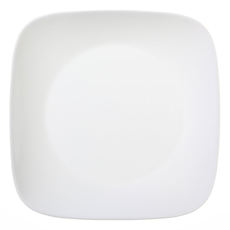Corelle Square Dinner Plate in Pure White