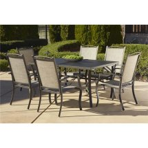 Cosco Outdoor Serene Ridge 7 Piece Aluminum Patio Dining