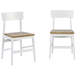Light Oak Dining Chairs Bar Stools And Progressive Christy Chair Set Of 2 In White D878 61