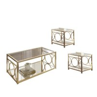 3 Piece Coffee Table Set with Coffee Table and Set of 2