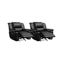 La Z Boy Martin Big And Tall Executive Office Chair Black Beach Bathroom Accessories Oversize Recliners Cymax Stores Set Of 2 Transitional Glider Leather Recliner In