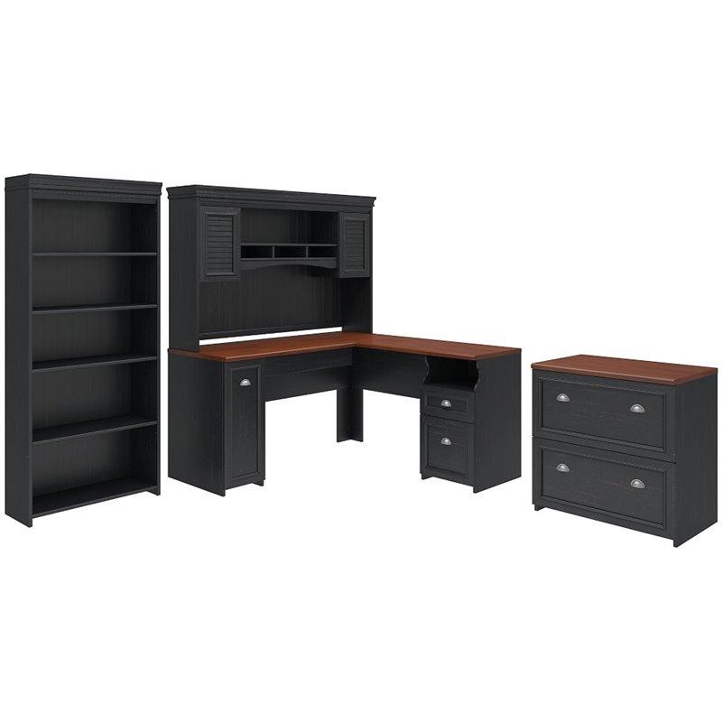 Bush Furniture Fairview L Shaped Desk Office Suite in