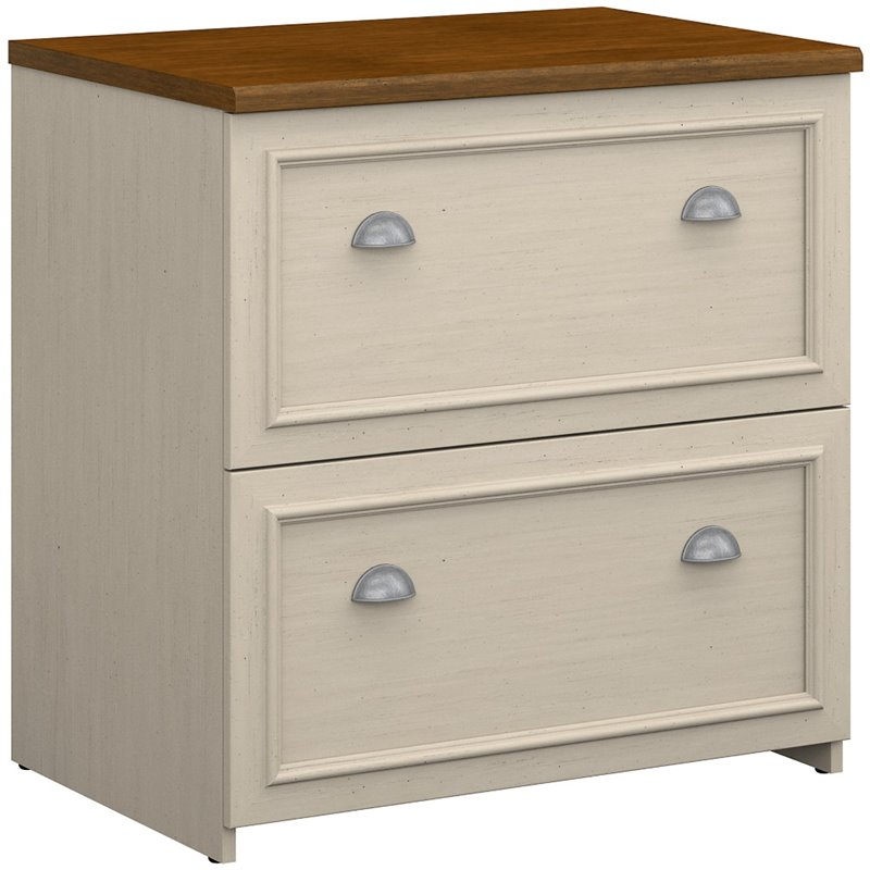 Bush Fairview 2 Drawer Lateral Wood File White Filing