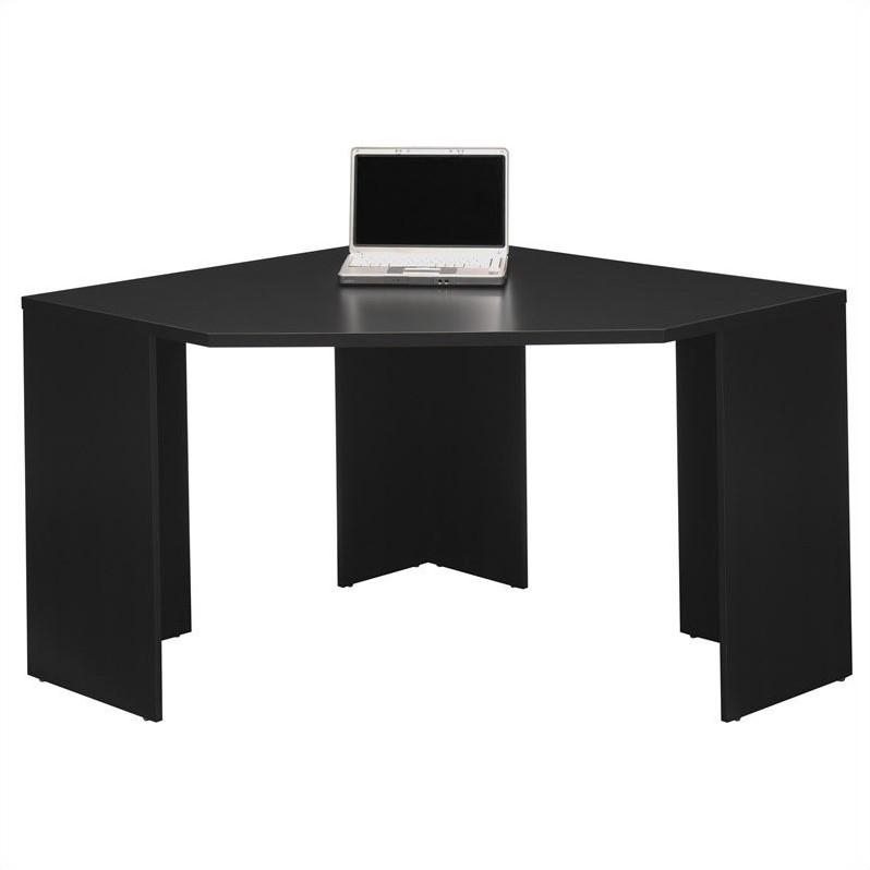 Bush MySpace Stockport Wood Corner Desk in Black  MY6290203