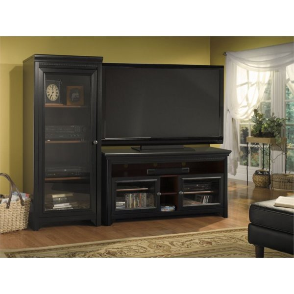 Bush Furniture Stanford Cabinet With2 Audio Rack