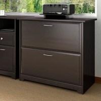 Bush Cabot Lateral File Espresso Oak Filing Cabinet   eBay