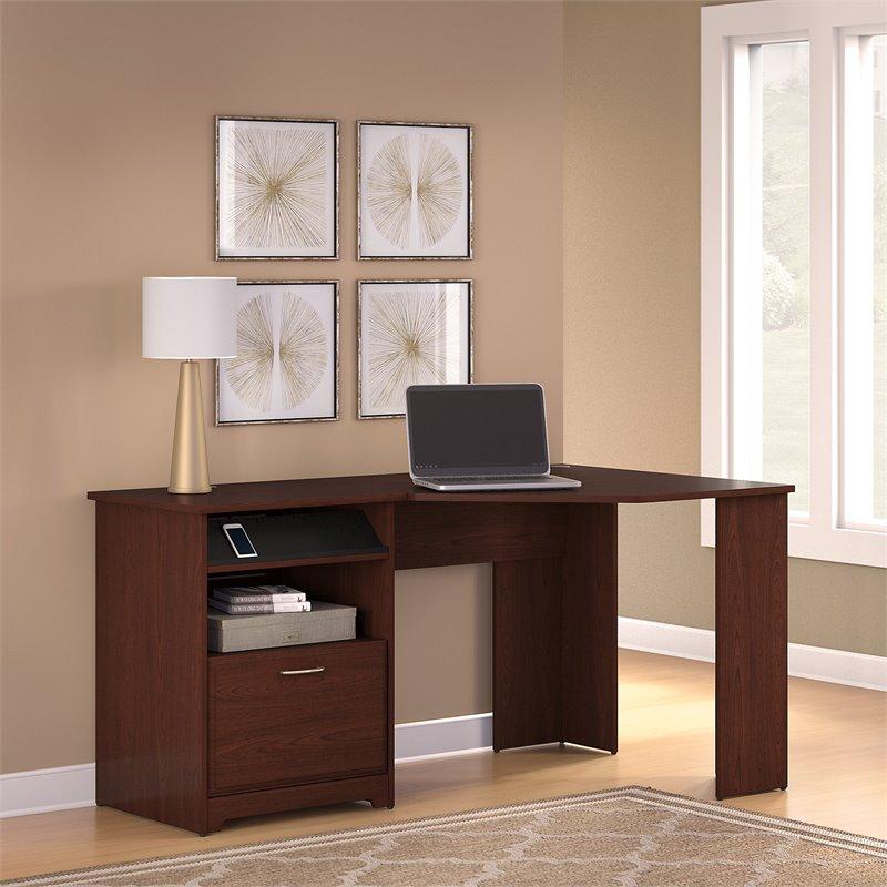 Bush Cabot Corner Computer Desk in Harvest Cherry  WC3141503