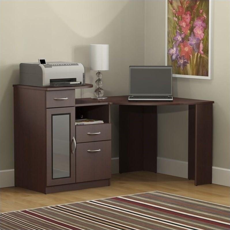 Bush Vantage Corner Home Office Computer Desk in Harvest